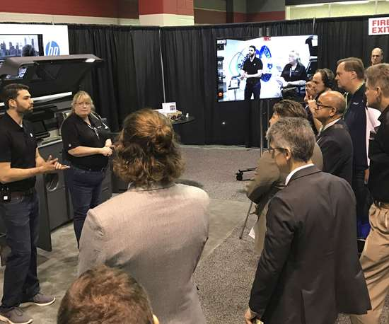 HP demo at Amerimold 2019