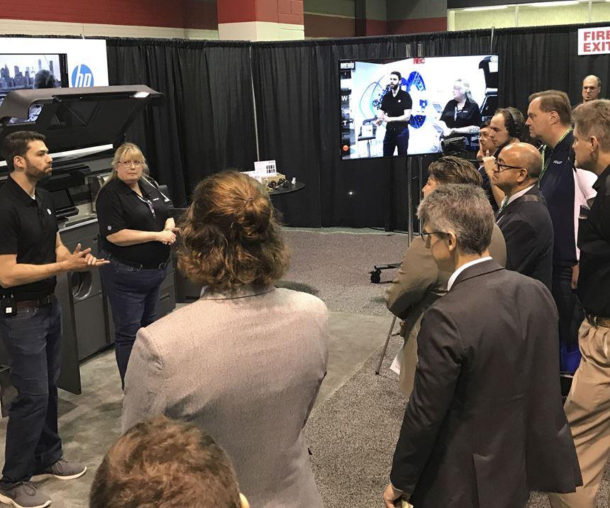 HP demo at Amerimold 2019