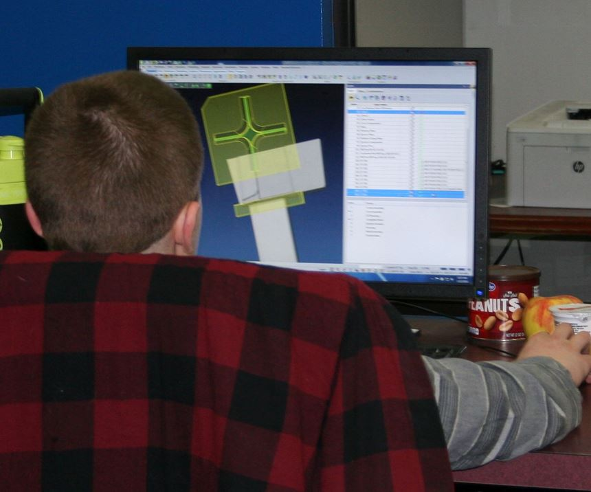 Designer using VISI CAD/CAM software from TST Tooling Software Technology