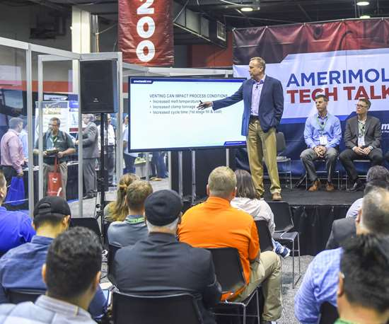 Mold venting panel at Amerimold 2019