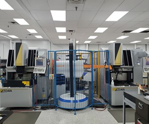 Automated EDM cell at X-Cell Tool and Mold in Fairview, PA.