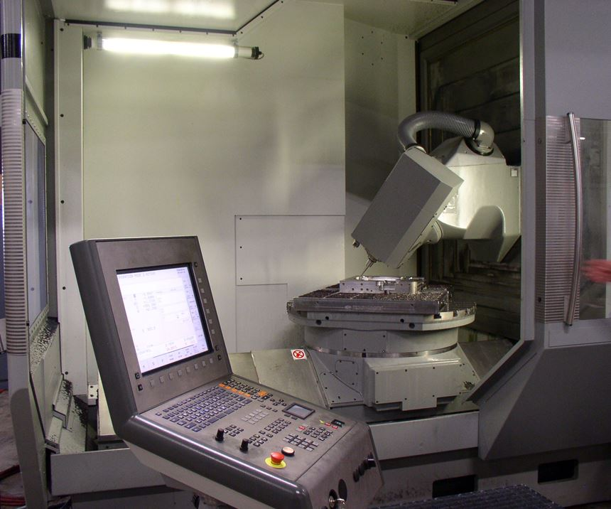 DMG MORI DMU 100P 5-Axis universal machining center at Del-Tool Co. Inc.