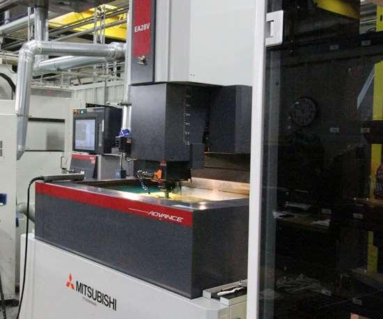 Mitsubishi sinker EDM at Del-Tool Co. Inc.