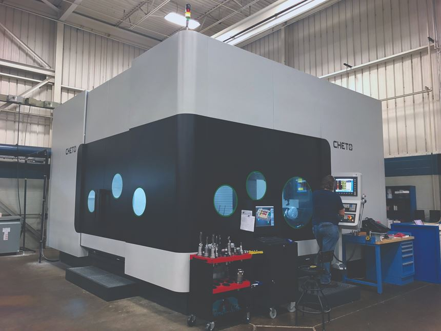 Cheto brand CNC that performs deep-hole drilling with milling