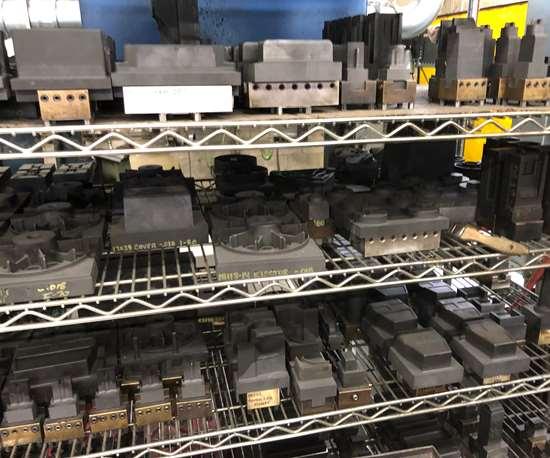 Electrodes used for details on die cast dies at Do-Rite Die & Engineering