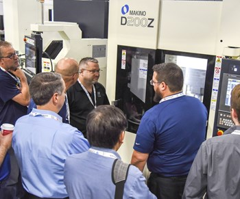Makino in-booth demo of CNC at Amerimold 2018