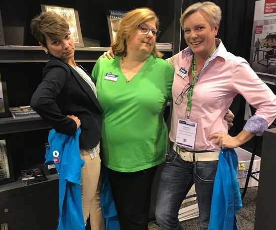 Christina Fuges, Cynthia Kustush and Barbara Schultz at Amerimold 2019