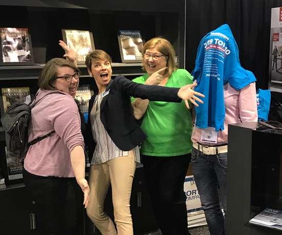 Heather Wintle, Christina Fuges, Cynthia Kustush and Barbara Schultz at Amerimold 2019