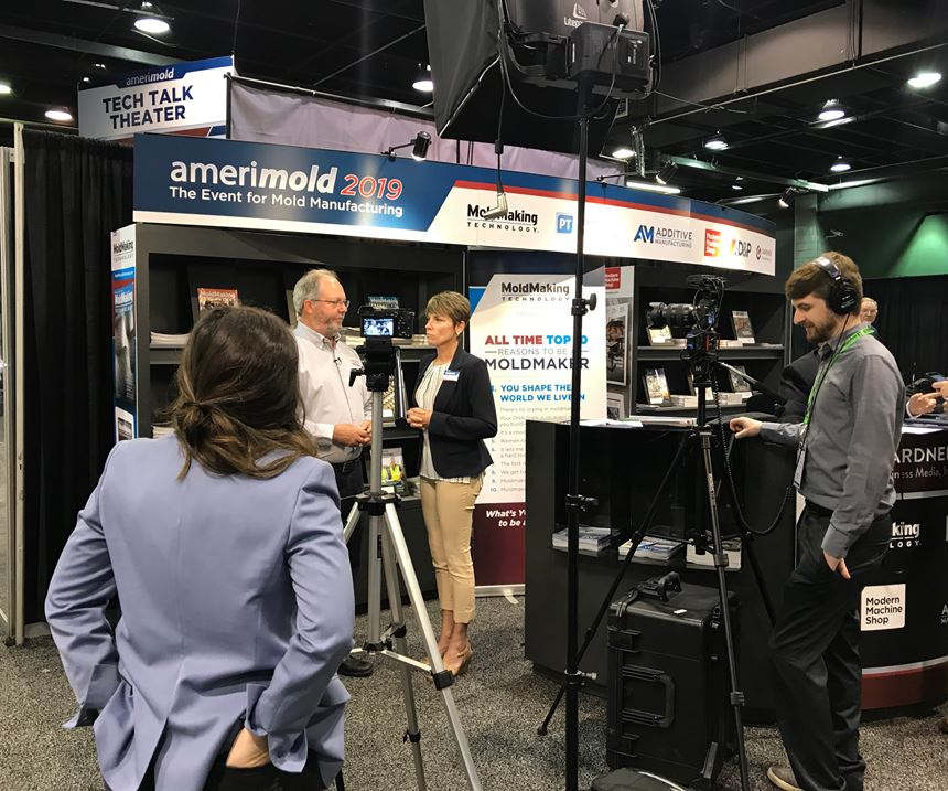 Christina Fuges interviewing during Amerimold 2019