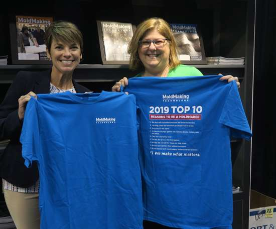 2019 Top Ten Reasons to be a Moldmaker t-shirt from MoldMaking Technology Magazine