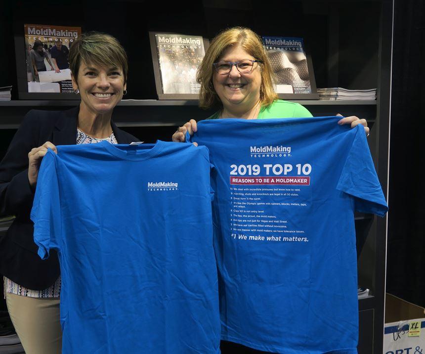 2019 Top Ten Reasons to be a Moldmaker t-shirt from MoldMaking Technology Magazine
