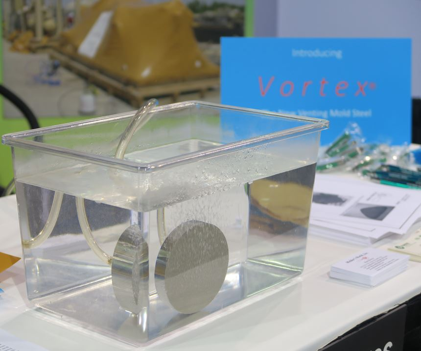 Molder's World new Vortex material for venting core pins