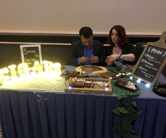 Cigar rolling at Amerimold 2019