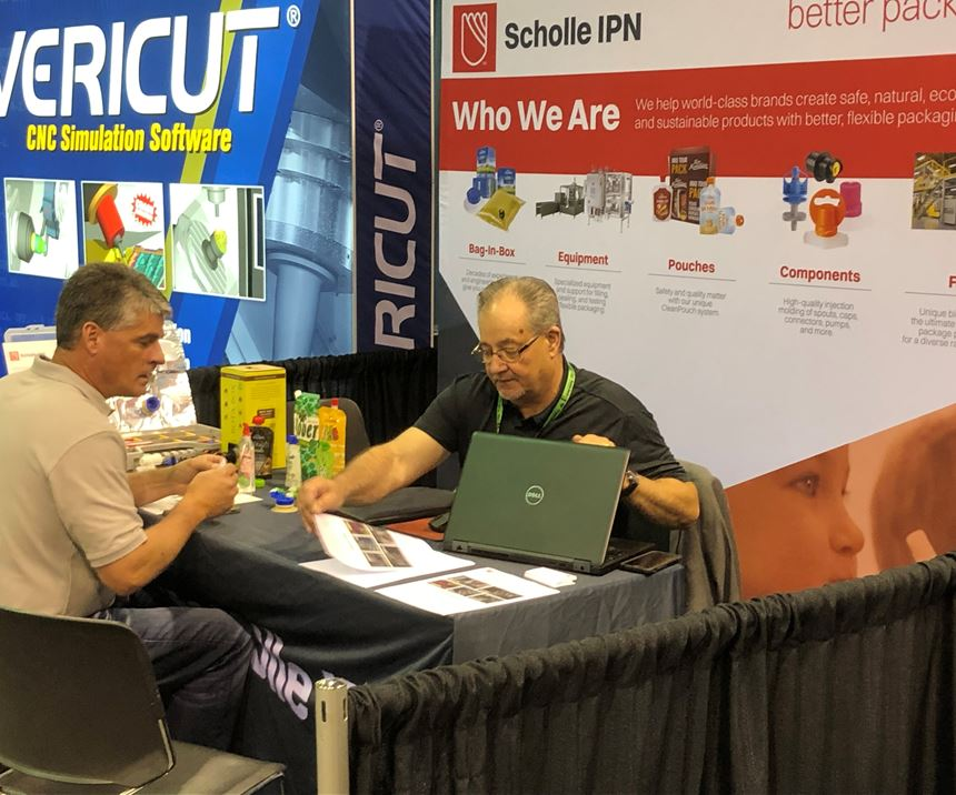 Scholle IPN interviewing mold shop candidates at Amerimold 2019