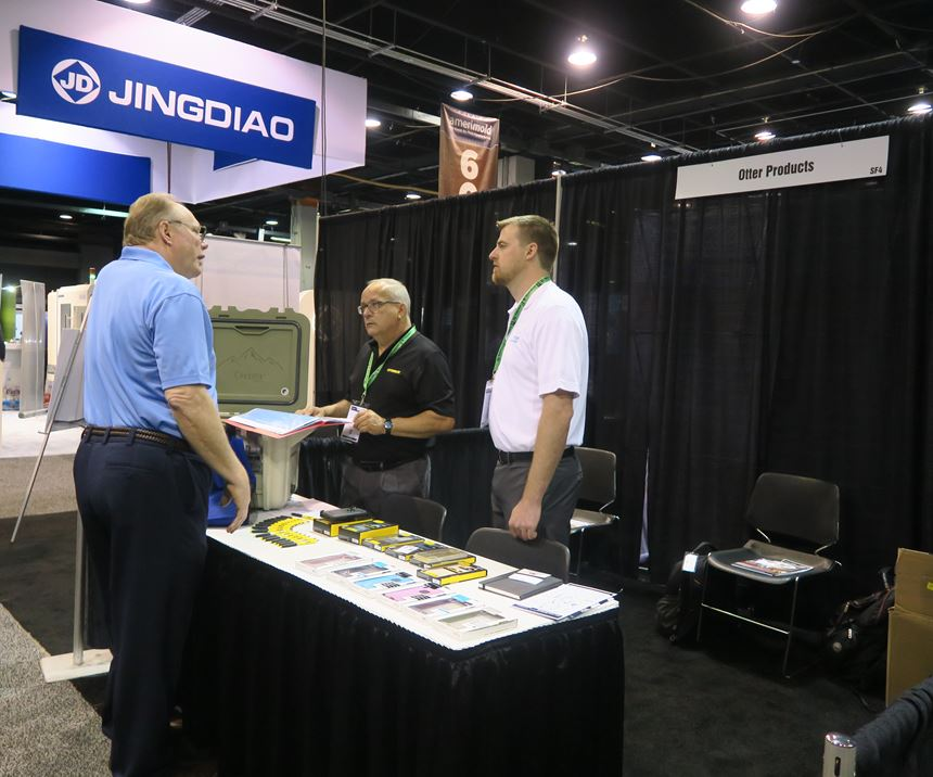 Otter Products interviewing potential mold suppliers at Amerimold 2019