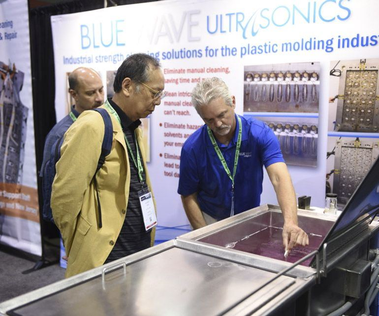 Blue Wave Ultrasonics cleaning system for injection molds.