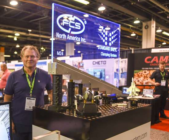 FCS North America workholding at Amerimold 2019.
