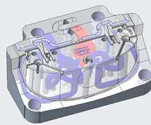 isometric views of the conformal-cooled insert
