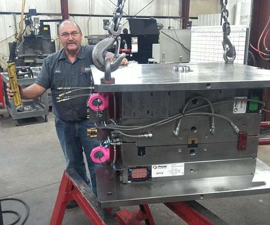 Jerry Ward, lead moldmaker at Precise Tooling Solutions Inc.