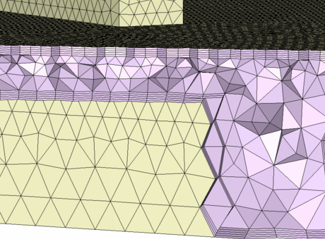 Design pod with 10 boundary layers - part simulation.