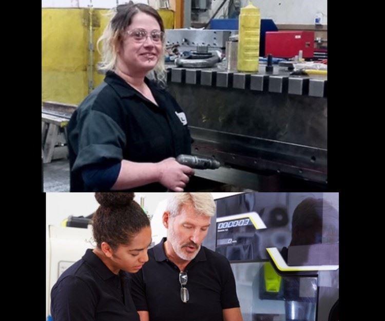 women at machine tools