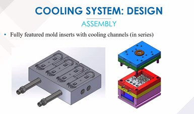 insert with cooling channels