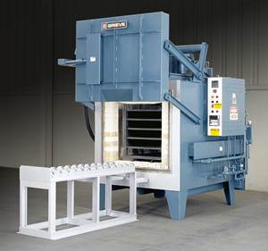 Heavy Duty Box Furnace Used for Heat Treating Titanium