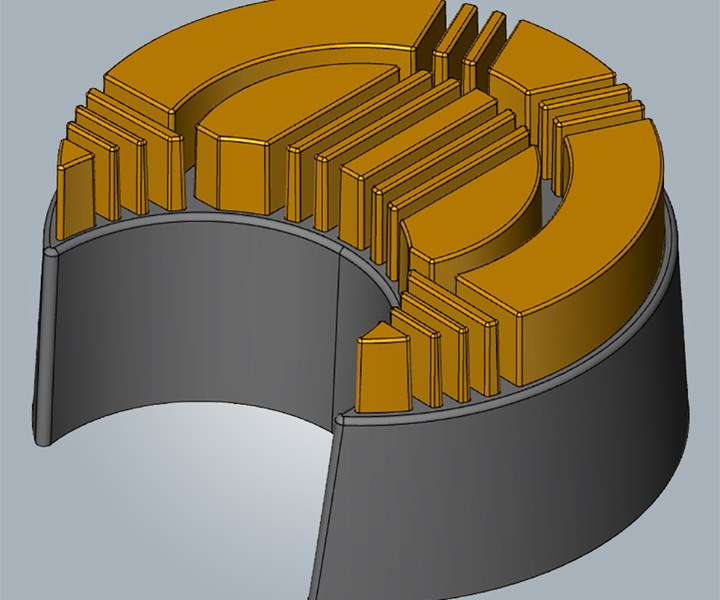 DED can generate a composite metal structure.