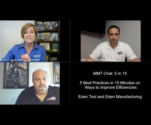 MMT Chats: 5 in 5 with Eden Tool Company and Eden Manufacturing image