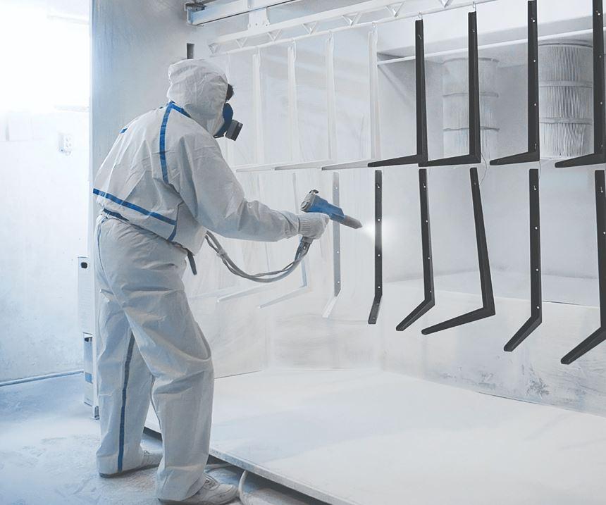 man powder coating