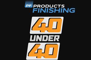 Se acerca la fecha límite para el programa 40 Under 40 de Products Finishing