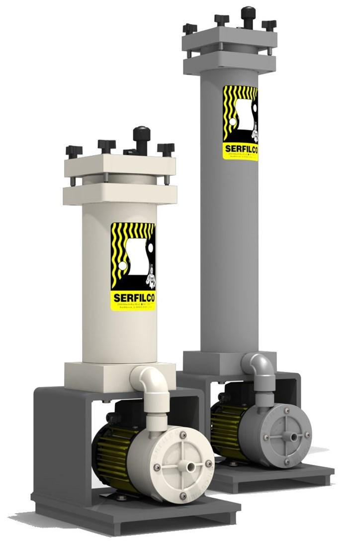 Sistemas de filtración compactos y resistentes a la corrosión