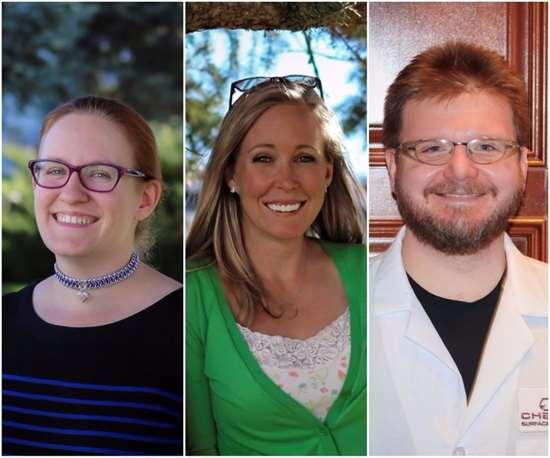 Chemeon chemists Dr. Catherine Munson, Shay Davis and Joe Harrington