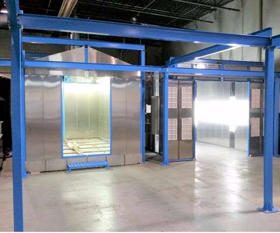 Parker Ionics Configurable Compact Shuttle System (CCSS) for powder coating