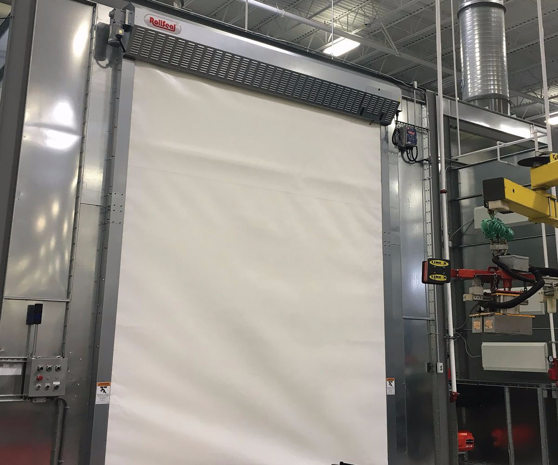 RollSeal fabric oven door & Fabric Oven Door Withstands Temps as High as 500°F : Products Finishing