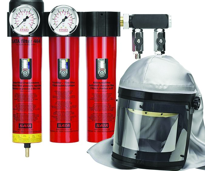 Sata Spray Equipment/Dan-Am Co. air supply and filtration system