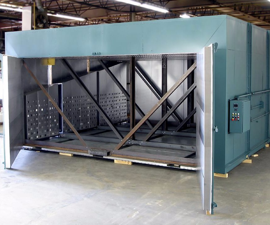 Grieve No. 1019 500°F electrically heated walk-in batch oven