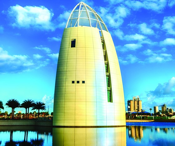 Architectural structure located on Florida coast