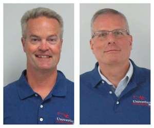 Univertical sales reps Dan Keller and Andre Depew