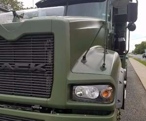 Mack Truck with green paint