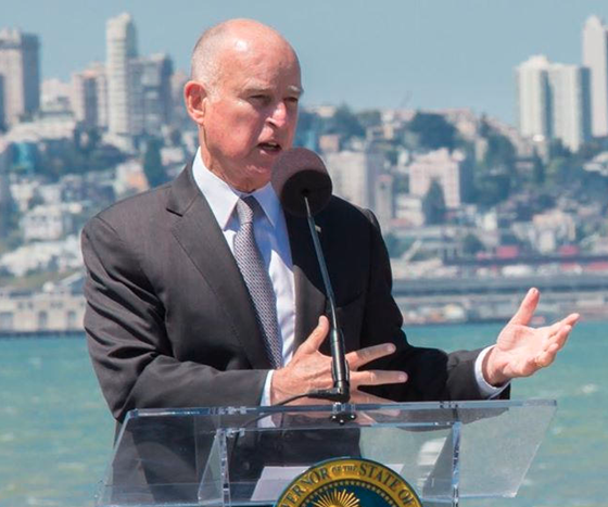 governor jerry brown talking