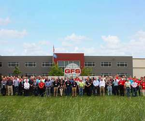 Industrial Distributor Meeting Group Photo at GFS, Osseo, Wisconsin.