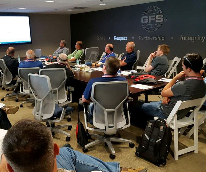 Industrial Distributor event at GFS included group discussions, training and presentations.