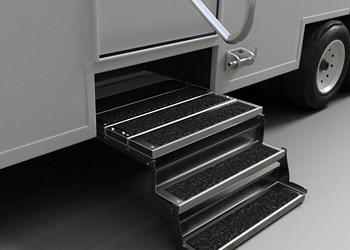 Axalta's Alesta Sure-Grip powder coating featured on truck stairs