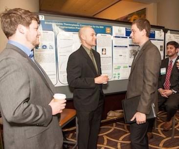 men standing at symposium
