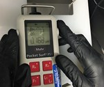handheld profilometer measures surface roughness on Hull cell panels