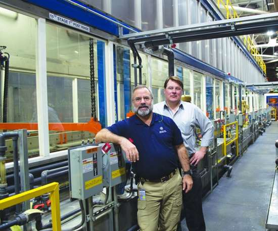 GE engineers Michael Burbey and Chris French