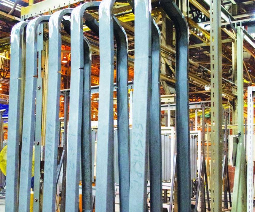 Locomotive parts are prepped for zirconium pretreatment