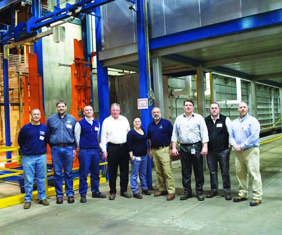 The team that put together the GE ecoat line
