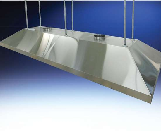 Hemco canopy hood for capturing finishing exhaust fumes